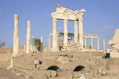 Temple de Trajan dans Pergamon Image libre de droits