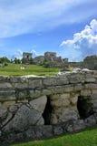 Temple de Tulum Photographie stock