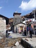 Temple de Tungnath Photos libres de droits