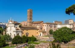 Temple de Venus et de Rome - Rome, Italy Stock Photos