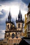 Temple de Vierge Marie à Prague images libres de droits