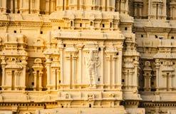 Temple de Virupaksha dans le détail de l'Inde de karnakata de hampi de la sculpture images stock