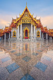 Temple de Wat Benjamaborphit ou de marbre Photos stock