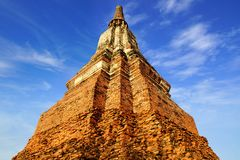 Temple de Wat Chai Watthanaram. Ayutthaya image libre de droits