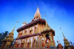 Temple de Wat Chalong à Phuket Photo libre de droits