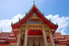 Temple de Wat Chalong Chaithararam Phuket Biggest images stock