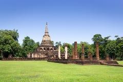 Temple de Wat Chang Lom en parc historique de SI Satchanalai images stock