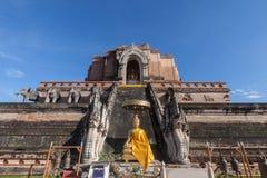 Temple de Wat Chedi Luang chez Chiang Mai, Thaïlande Photo libre de droits