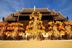 Temple de Wat Phan Tao, Thaïlande Images libres de droits