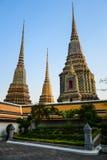 Temple de Wat Pho de pagoda, Bangkok en Thaïlande Image libre de droits