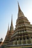Temple de Wat Pho de pagoda, Bangkok en Thaïlande Photo libre de droits