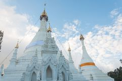 Temple de Wat Phra That Doi Kong MU, Mae Hong Son, Thaïlande Photographie stock