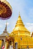 Temple de Wat Phra That Hariphunchai Images libres de droits