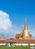 Temple de Wat Phra Kaew à Bangkok - en Thaïlande Image stock