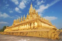 Temple de Wat Phra That Luang Buddhist à Vientiane, Laos photo libre de droits