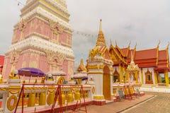 Temple de Wat Phra That Renu Nakhon Photo stock