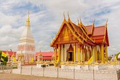 Temple de Wat Phra That Renu Nakhon Photos libres de droits