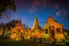 Temple de Wat Phra Singh en Chiang Mai, Thaïlande Photo libre de droits