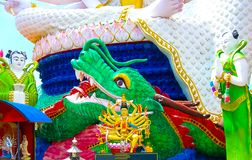 Temple de Wat Plai Laem avec la statue Guanyin, Koh Samui, Surat Thani de Dieu de 18 mains Images libres de droits