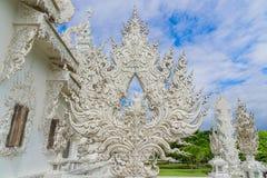 Temple de Wat Rong Khun en Chiang Rai, Thaïlande Photos libres de droits