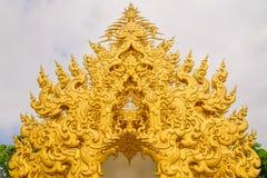 Temple de Wat Rong Khun en Chiang Rai, Thaïlande Images libres de droits
