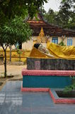 Temple de Wat Som Rong Buddhist - Tra Vinh, Vietnam Photographie stock