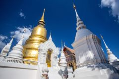 Temple de Wat Suan Dok en Chiang Mai, Thaïlande Photographie stock libre de droits
