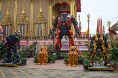 Temple de Wat Ta Khian à la province de Nothaburi en Thaïlande Photo libre de droits