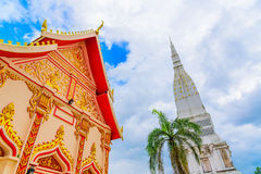 Temple de Wat Tha Uthen Image libre de droits