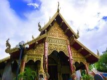 Temple de Watklangwiang, Chiang Rai Image libre de droits