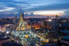 Temple de withayaram de traimitr de Wat à Bangkok Thaïlande Photos libres de droits