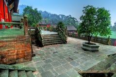 Temple de Wudang Shan en Chine Photographie stock libre de droits