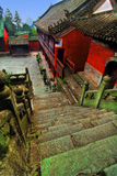Temple de Wudang Shan en Chine Photo stock