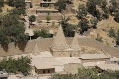 Temple de Yazidi dans Lalish, Kurdistan irakien Images libres de droits
