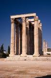 Temple de Zeus, Athènes Images libres de droits