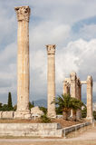 Temple de Zeus Athens olympien Photo stock