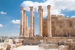 Temple de Zeus dans Jerash, Jordanie Image libre de droits