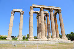 Temple de Zeus olympien, Athènes, Grèce Photos libres de droits