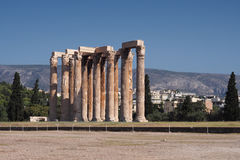 Temple de Zeus olympique Photo stock