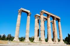 Temple de zeus olympique, Athènes Images libres de droits