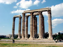 Temple de Zeus olympique Athènes Images libres de droits