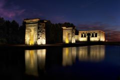 Temple of Debod. The Temple of Debod is an ancient Egyptian temple which was rebuilt in Madrid, Spain Stock Image