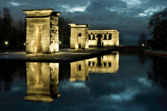 The temple of Debod. Is an ancient Egyptian temple which was rebuilt in Madrid, Spain Royalty Free Stock Image