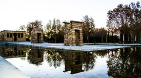 Temple of Debod: Egyptian monument in the evening Royalty Free Stock Photo