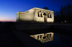 Temple of Debod. Egyptian temple in Madrid. Famous Landmark Royalty Free Stock Image