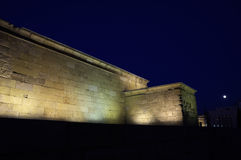 Temple of Debod. Egyptian temple in Madrid. Famous Landmark Stock Photos