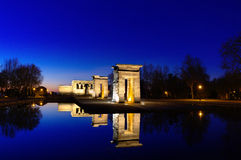 Temple of Debod. Egyptian temple in Madrid. Famous Landmark Stock Images