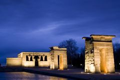 Temple of Debod in Madrid Stock Photo