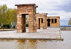 temple of debod madrid royalty free stock image