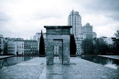 Temple of Debod, Madrid - monochrome Stock Image